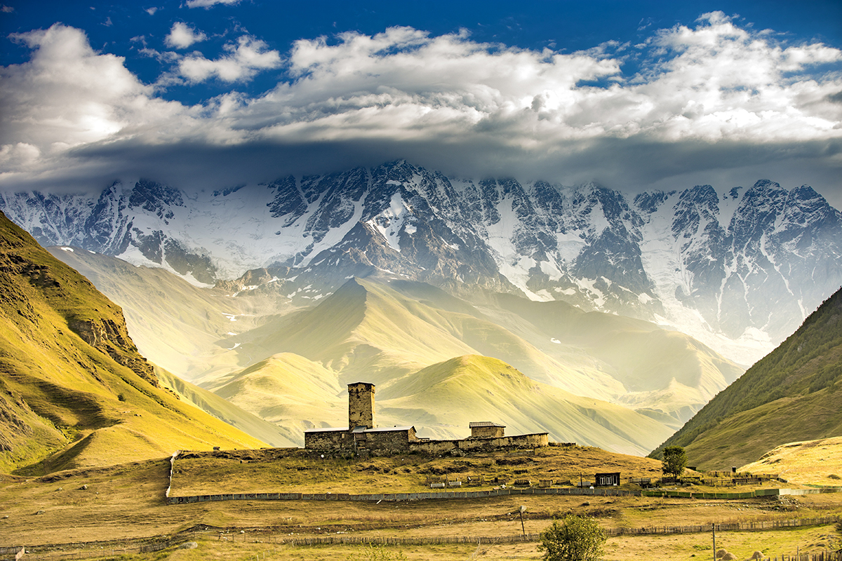 Seven most visited destinations in Georgia, Caucasus.